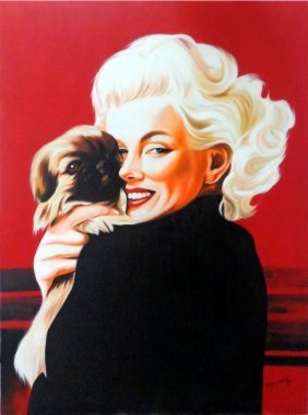 Marilyn Monroe Oil On Masonite