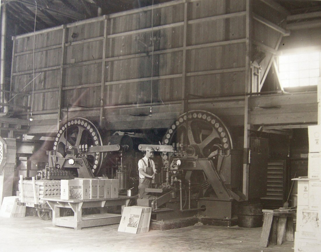 Large Log making Machine – Presto Logs, Scotia, CA