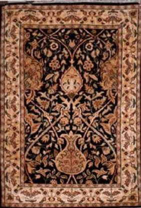"""Indian Rug Agra Hand Knotted 6'2"""" X 4'0"""""""