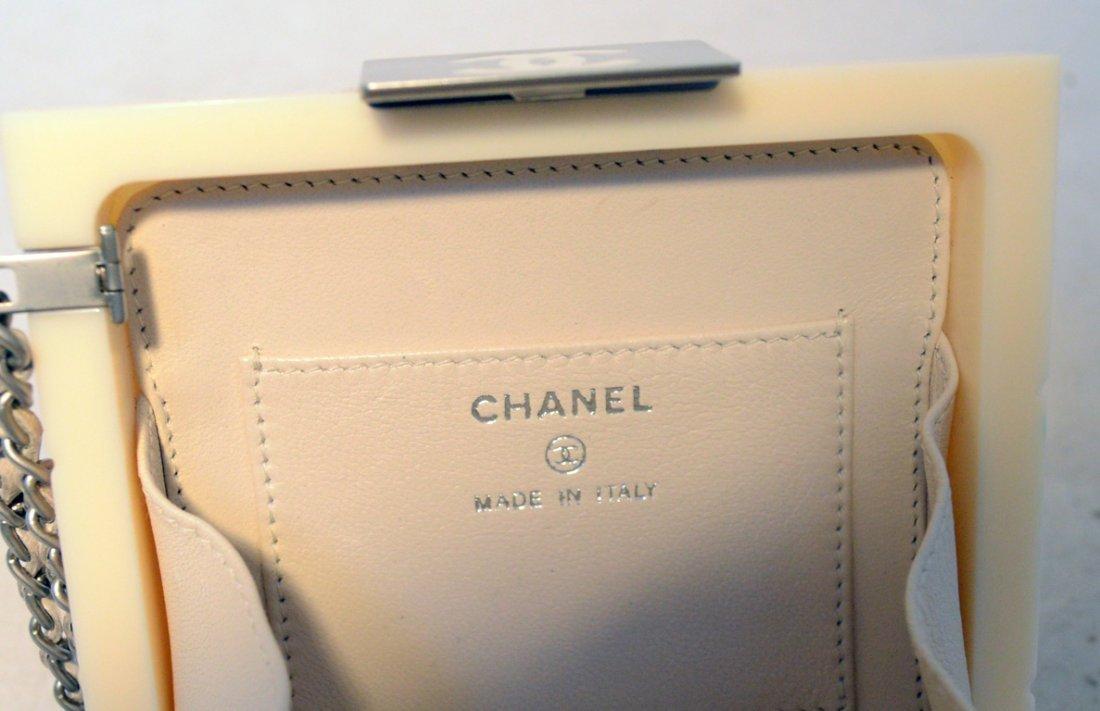 RARE Chanel Cream Resin Box Clutch Wristlet - 6
