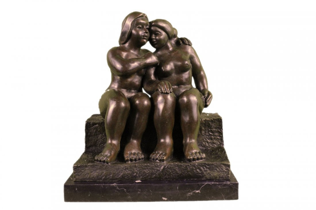 Abstract Art Sensual Nude Female & Male Bronze Marble