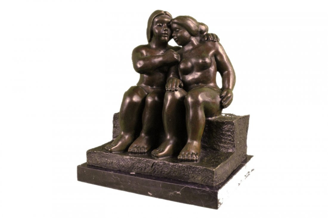 Abstract Art Sensual Nude Female & Male Bronze Marble - 4