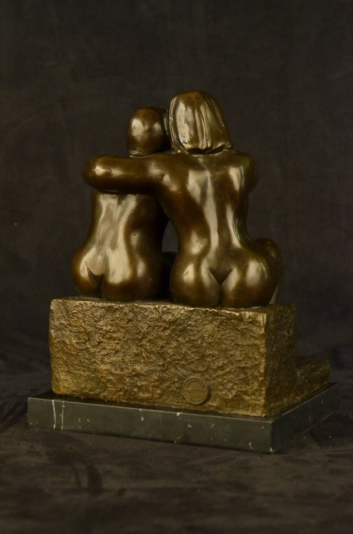 Lesbian Couple Abstract Modern Art Sculpture Marble - 5