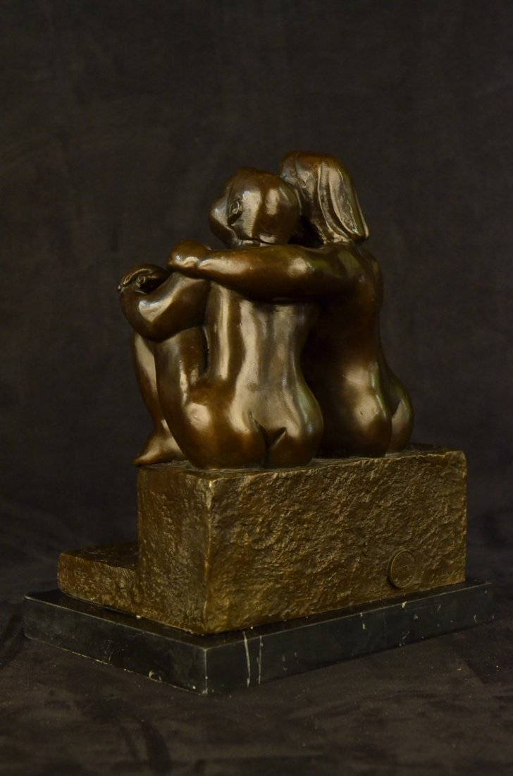 Lesbian Couple Abstract Modern Art Sculpture Marble - 6