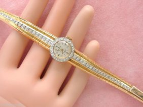 Vintage Retro .90ctw Diamond Pink 18k Gold Ladies Dress