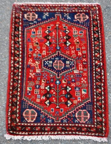 EXHIBIT SIZE GEOMETRIC MEDALLION ABADEH HAND WOVEN RUG,