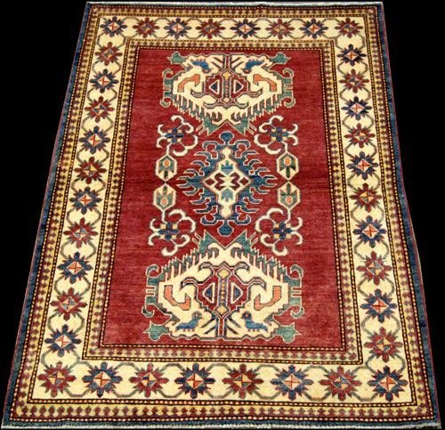 SPECIAL RUSSIAN DESIGN HAND WOVEN AUTHENTIC KAZAKH, 5.6