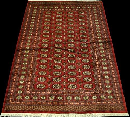 MAGNIFICENT SOFT PILE BOKHARA HAND WOVEN, 6.1 X 8.7