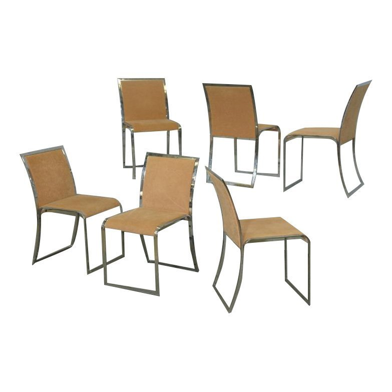 6 Dining Chairs by Saporiti