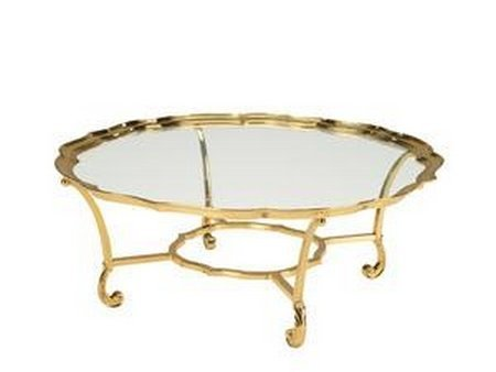 La Barge Brass Cocktail Table