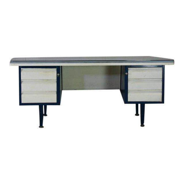 Italian Vintage Metal Desk