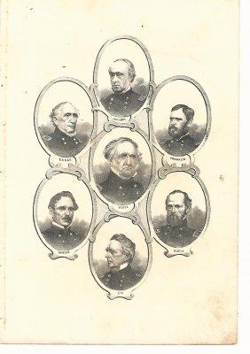 C1865 Civil War Generals Print