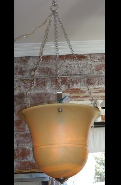 Fine Designer Alabaster Pendant Chandelier by Chapman