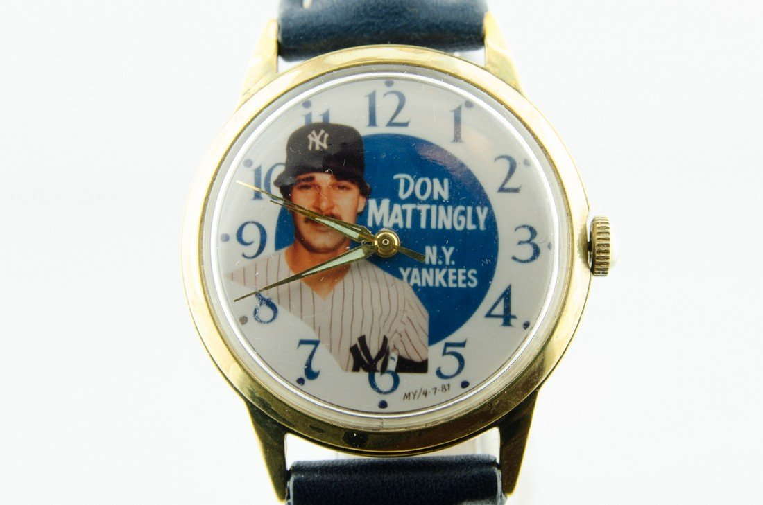 One of a kind Mattingly Yankees Watch