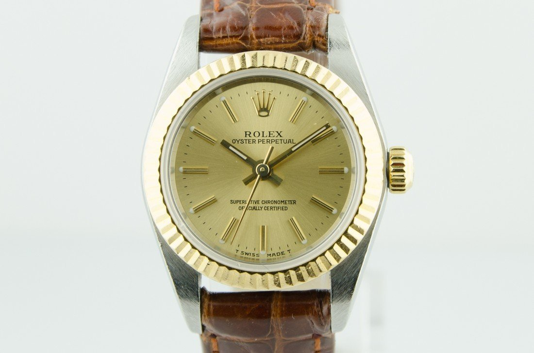 Ladies Rolex Oyster Sapphire Crystal Watch