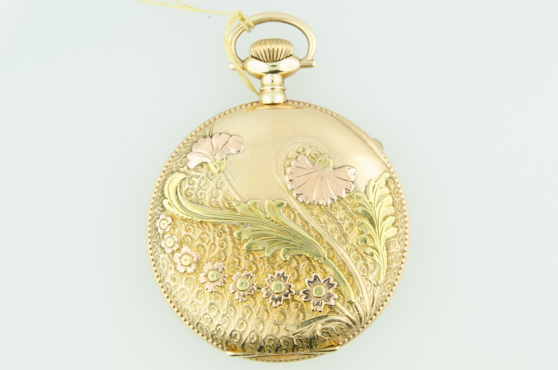4 Color Solid Gold Elgin Pocketwatch