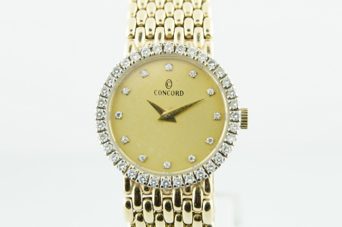 Ladies Concord 14K and diamond solid gold watch