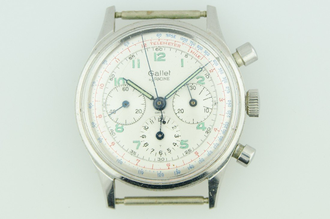 Gallet Stainless 3 Register Chronograph