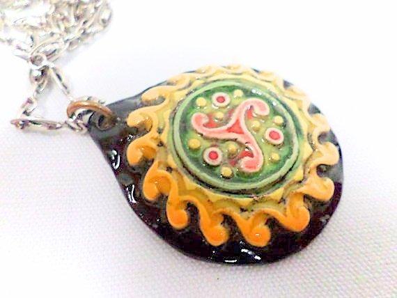 Quimper Pottery Pendant