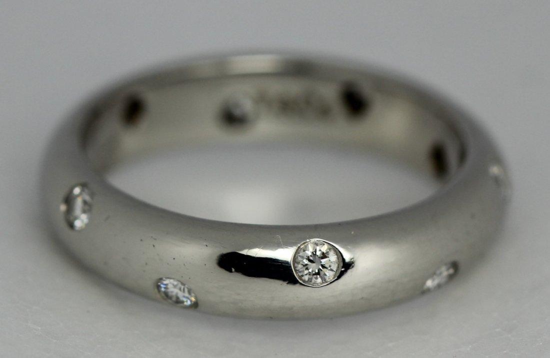 Tiffany & Co. Platinum PT950 Etoile Diamond Band Ring
