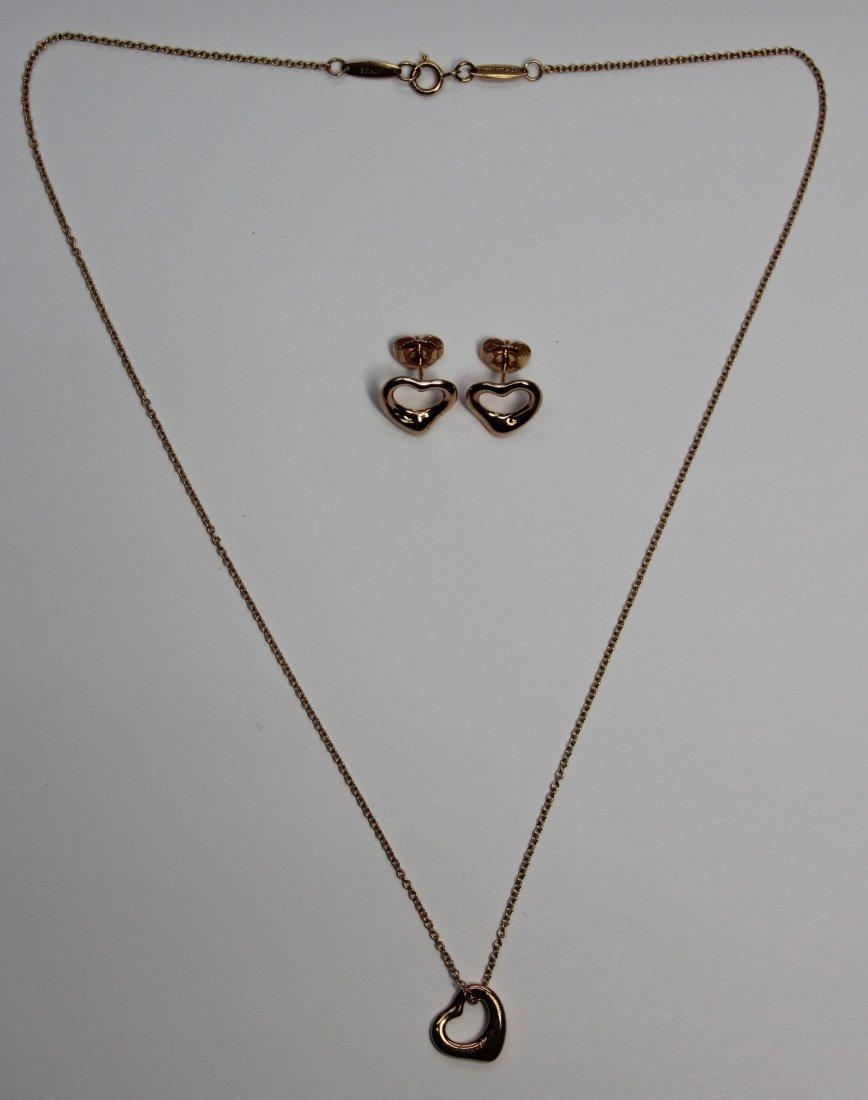 Tiffany & Co. Elsa Peretti Open Heart Pendant/Necklace