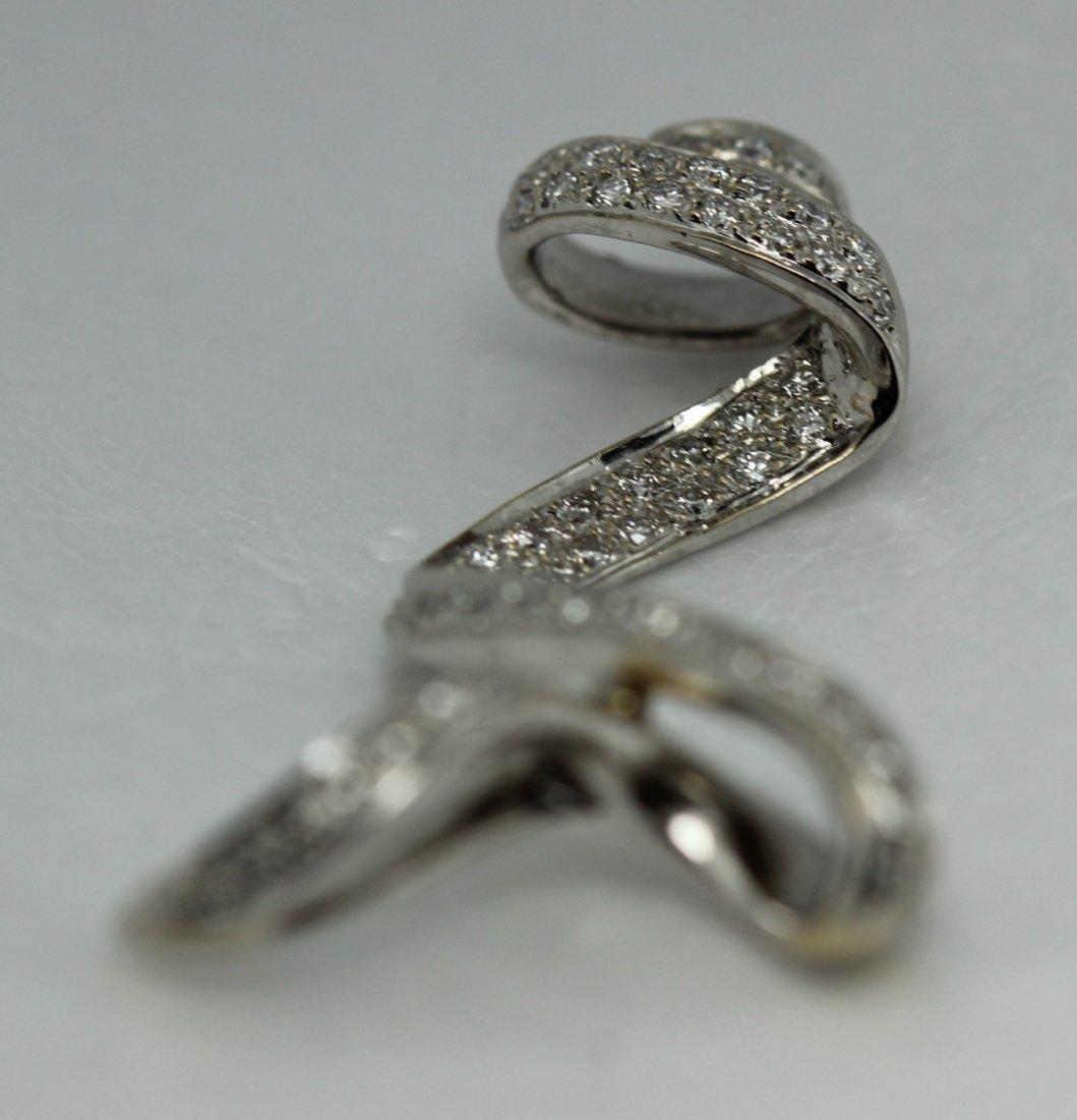 18kt White Gold Diamond Slide