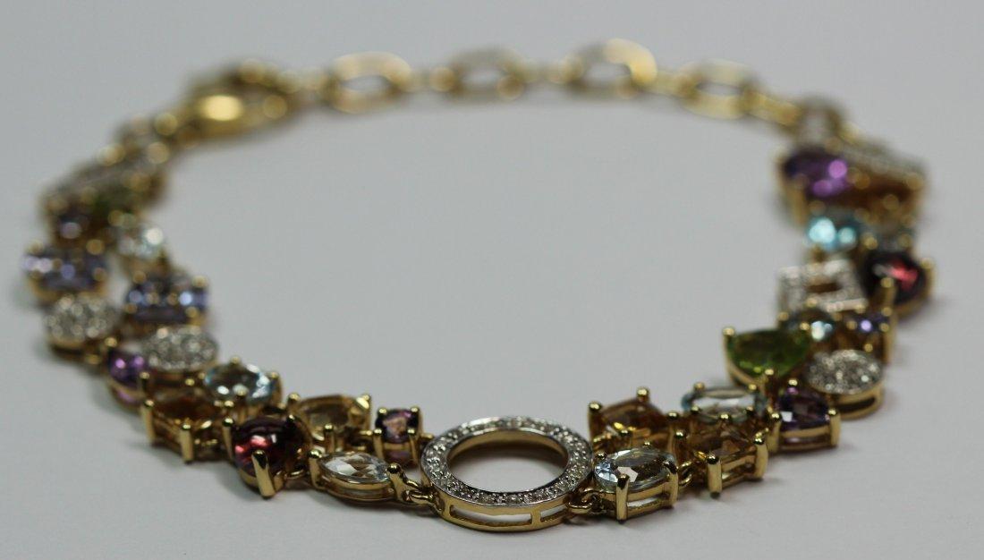 14kt Yellow Gold Mulit Colored Stone Bracelet