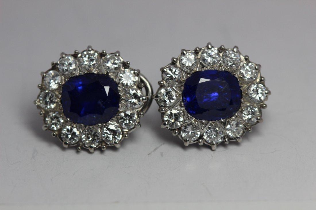 6ct AGL Vintage Handmade Burma Blue Sapphire Diamond