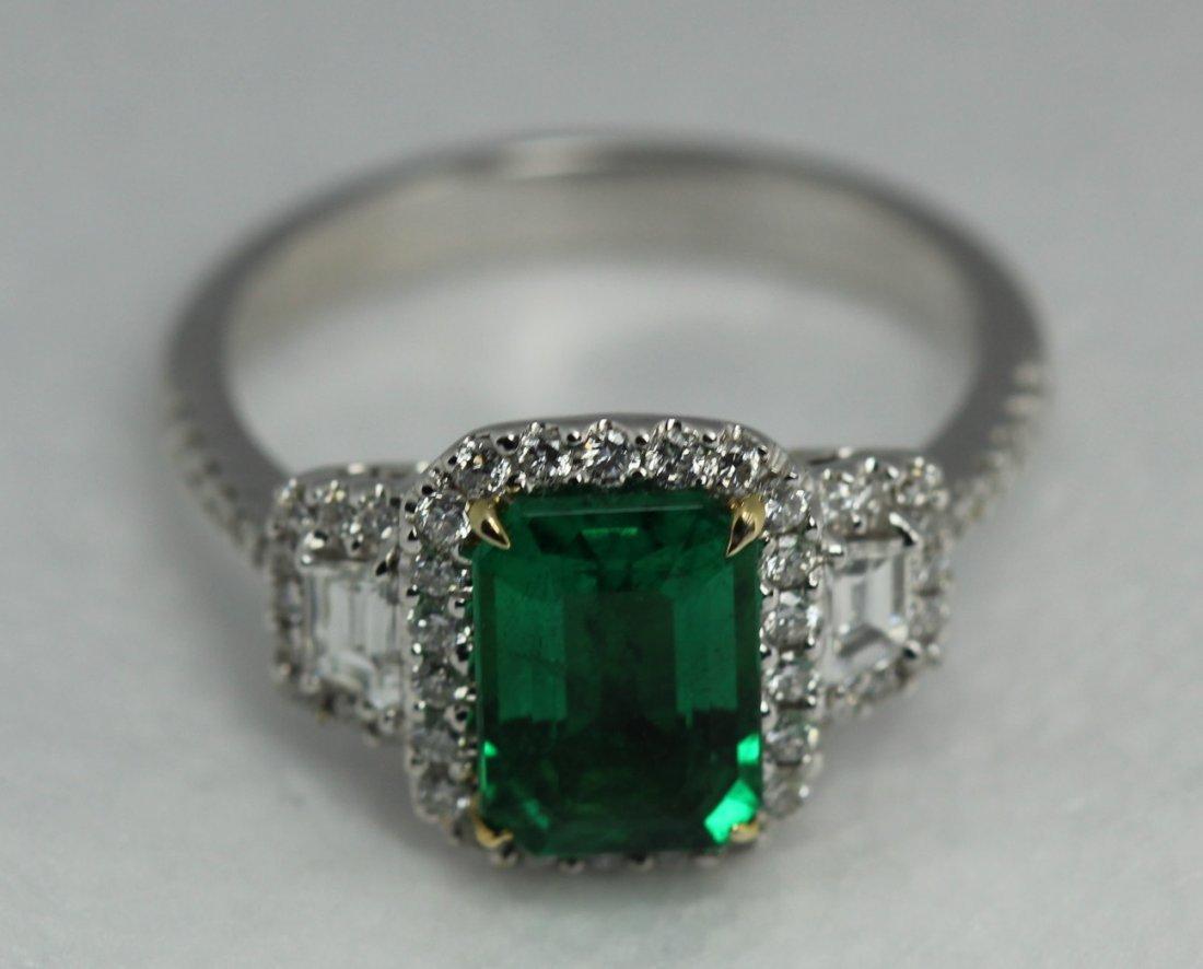 GIA 1.83 Emerald Diamond Ring 18kt White Gold