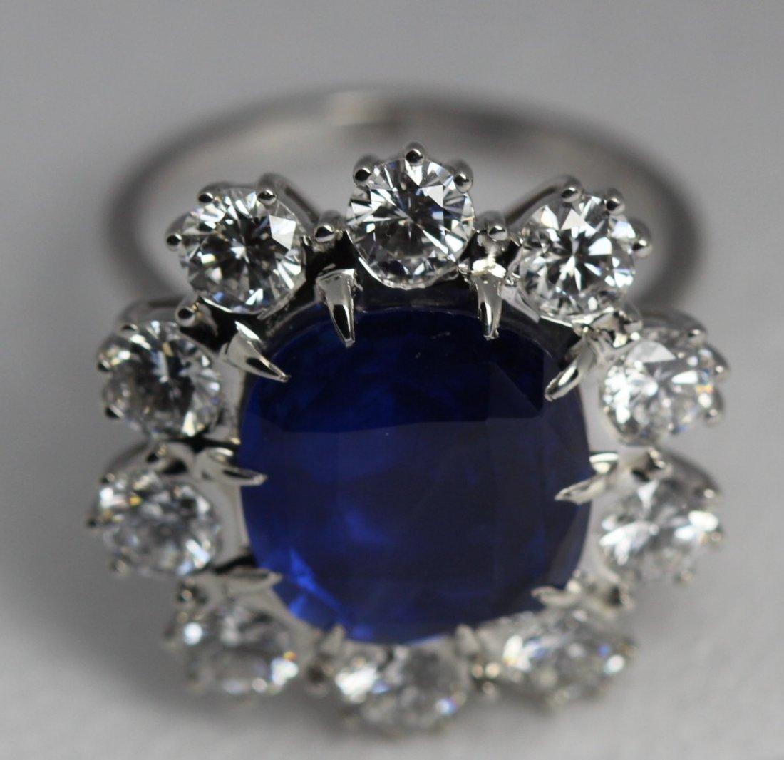 AGL GIA 5.71cts Platinum Burma Blue Sapphire Diamond