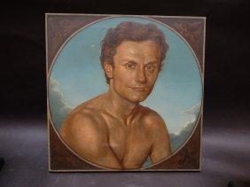 Chris Alexander Trompe L'oeil Style Portrait Of A Man
