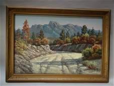 Lambert Samuel Nordberg High Desert Dry Riverbed Oil on