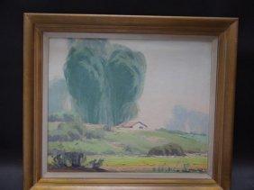 Karl Albert California Plein Air Oil On Canvas