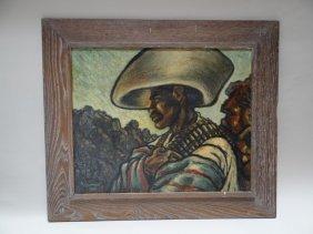 Don Freeman: Bandito Oil On Canvas