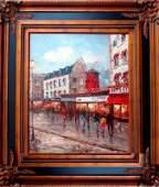 Moulin Rouge PARIS France Acrylic Framed ORIGINAL