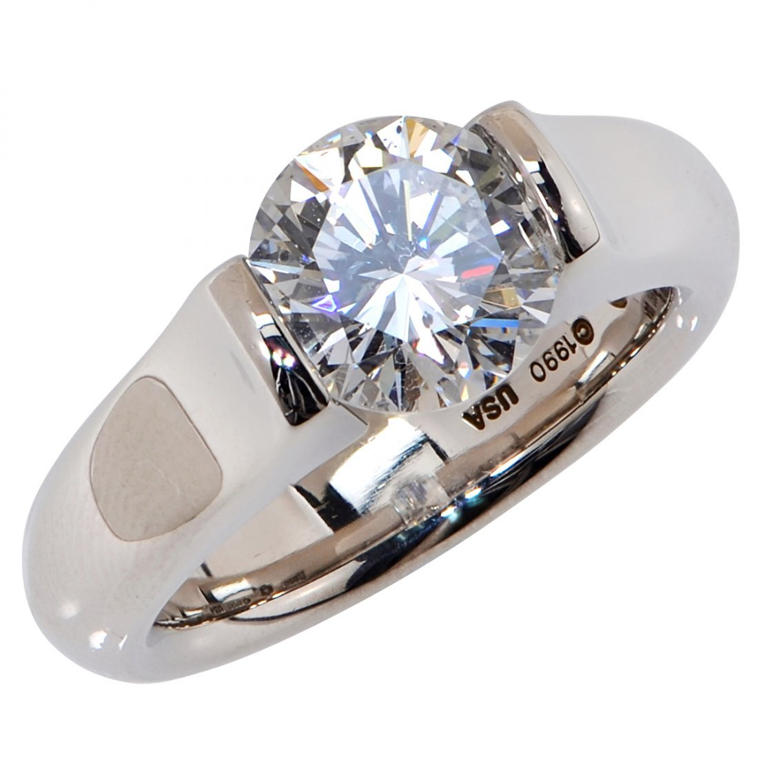 Steven Kretchmer: Platinum Diamond Ring, 2.5 ctw