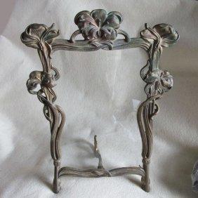 Antique Art Nouveau Mirror, Picture Frame