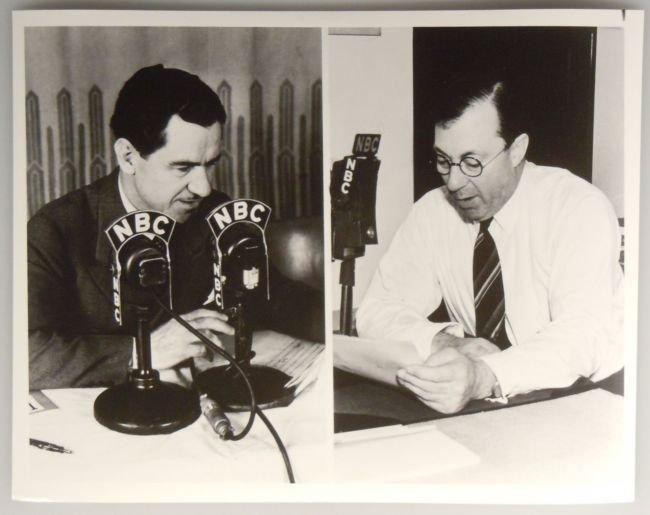 Vintage NBC Publicity Photo LOWELL THOMAS GRAHAM