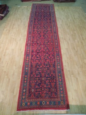 4x17 Persian Hamadan Runner Hand Knotted Oriental Rugs