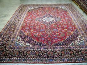 10x13 Persian Kashan Rug Hand Knotted Popular