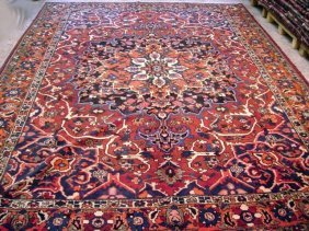 10x13 Persian Bakhtiar Rug Hand Knotted Modern Rugs