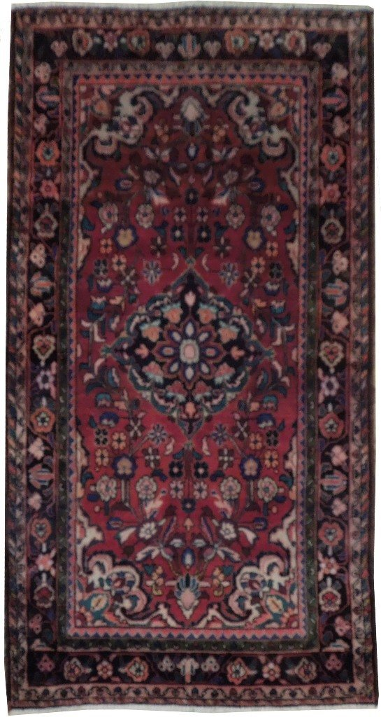 4X7 Persian Sarouk Rug Hand Knotted Cheap Rugs