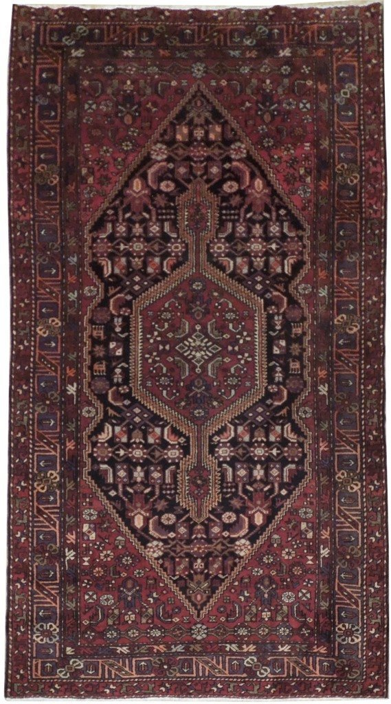 4X6 Persian Hamadan Rug Hand Knotted Original Rugs