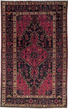 4x7 Persian Heriz Rug Hand Knotted Indoor Rugs