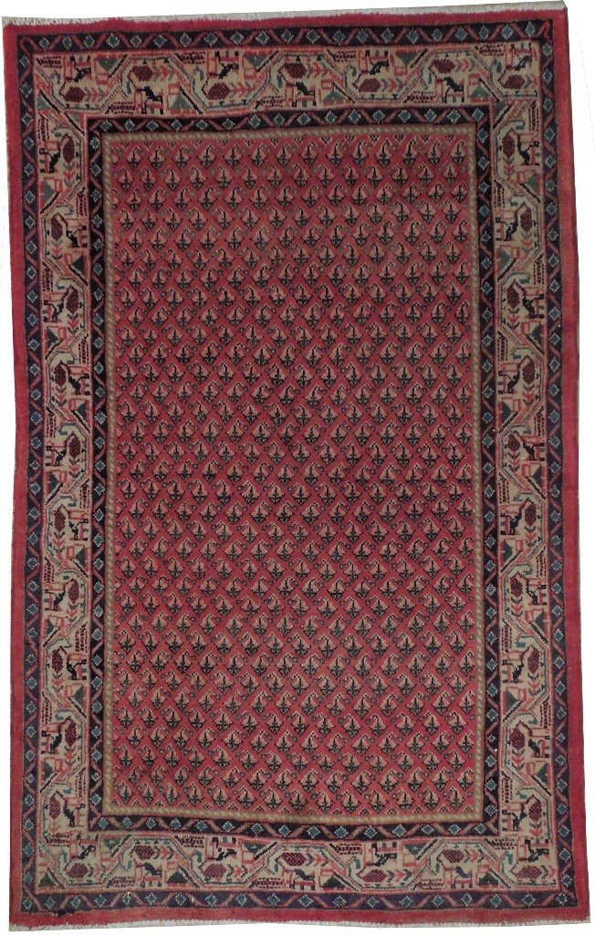 4X7 Persian Mir Rug Hand Knotted Rugs For Sale