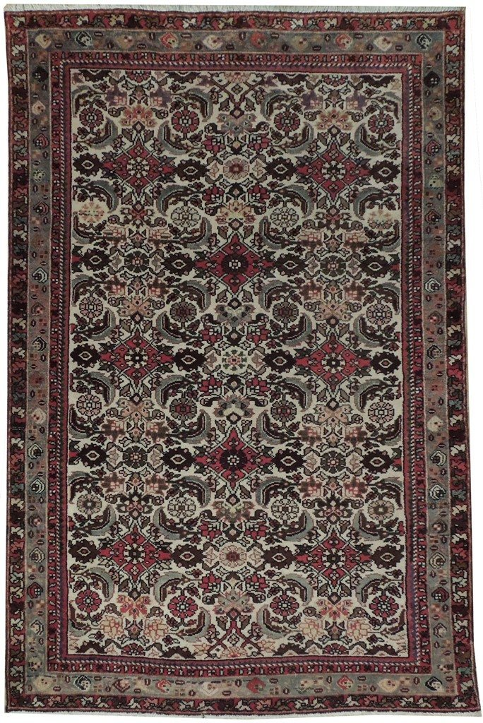 4X7 Persian Tabriz Rug Hand Knotted Living Room Rugs