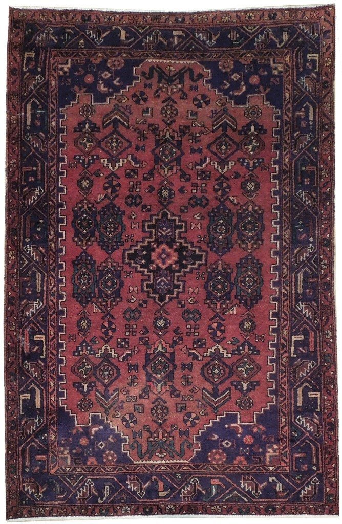 5X7 Persian Hamadan Rug Hand Knotted Antique Oriental