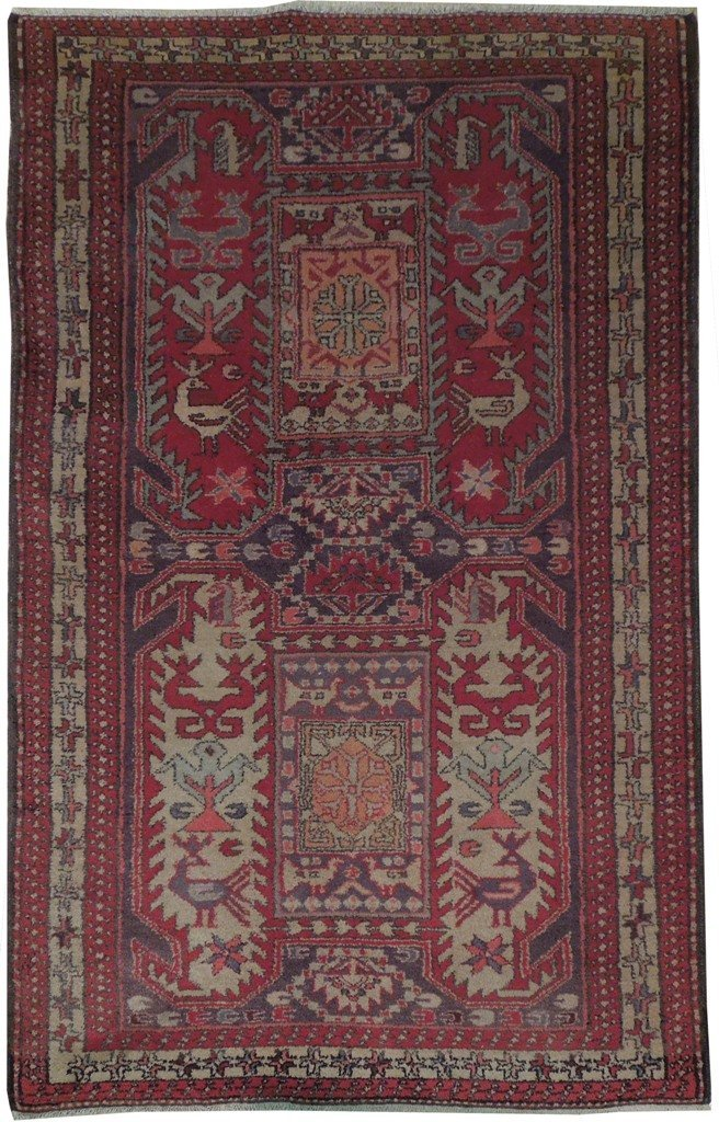 4X6 Persian Hamadan Rug Hand Knotted Wool Oriental Rugs