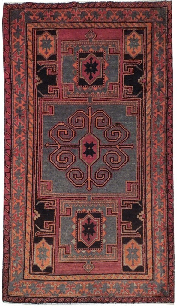 5X7 Persian Hamadan Rug Hand Knotted Cheap Rugs