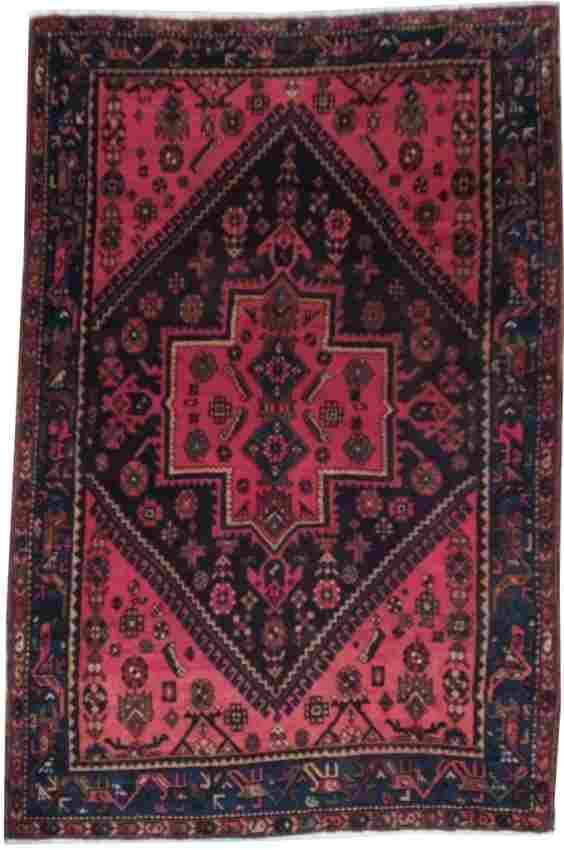 4X6 Persian Hamadan Rug Handmade Style Rugs